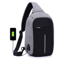Tas Selempang Anti Maling & Anti Air Smart Crossbody Bag USB Charger Premium Quality