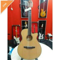 Ibanez AEG8TNE BKF Acoustic Electric Guitar Nylon Original