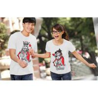 Kaos Couple / Baju Pasangan / Soulmate King Queen Putih