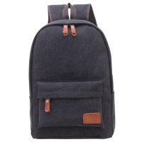 MoY Tas Ransel Vintage Solid Canvas Backpack