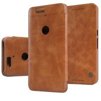 Nillkin Qin Leather Case Huawei Nexus 6P Casing Cover Flip - Coklat