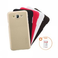 [1+1] Nillkin Super Frosted Shield Back Cover Case Samsung Galaxy J5 2015 / J500 + Tempered Glass