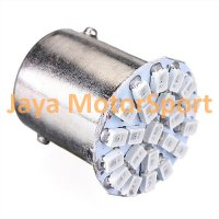 Lampu LED Mobil / Motor S25 1156 / BA15S 22 SMD 3014 - Green