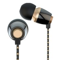 Vivan Earphone 3.5mm with Microphone (VE-M30) - Hitam/Gold