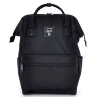 Anello Limited Edition All Black Tas Ransel Canvas Size L
