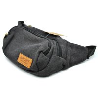 Tas Pinggang Canvas Waistbag Outdoor Travel Pocket