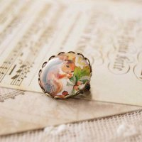 Bross Fashion Forest animal time gem brooch pin badge
