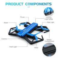 Drone JJRC BLUE CRAB 720P WIFI CAMERA FOLDABLE