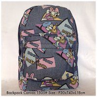 Tas Import Fashion Backpack Canvas 1505 - 1