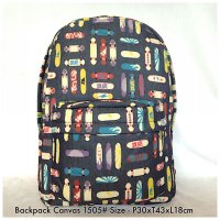 Tas Import Fashion Backpack Canvas 1505 - 5