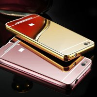 Metal Bumper Slide Mirror Xiaomi MI 4I / Bumper Mirror Slide Back Case – Color