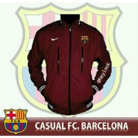 JAKET JERSEY FOOTBALL CLUB BARCELONA PARKA BOMBER PRIA ORIGINAL DISTRO