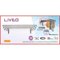 Liveo Jemuran Dinding LV-398 Walls 4 bars Stainless Steel (Ready)