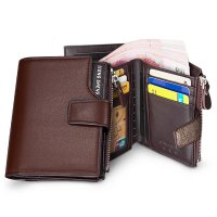 [FREE ONGKIR] Men Fashion Multi-function Business Leather Wallet Wallet Purse