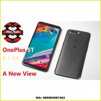Oneplus 5T Black Phone 6/64GB Hitam Hp 6GB RAM 64GB Storage NEW