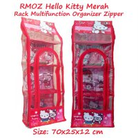 RMOZ Hello Kitty Merah (Rack Multifunction Organizer Zipper) Rak Multifungsi Gantung Karakter