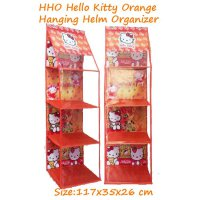 HHO Hello Kitty Orange (Hanging Helm Organizer) Rak Gantung Karakter Tanpa Retsleting