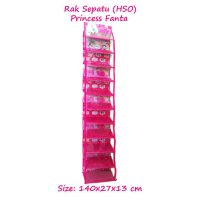 HSOZ Princess Fanta (Rak Sepatu Gantung Retsleting) Hanging Shoes Organizer