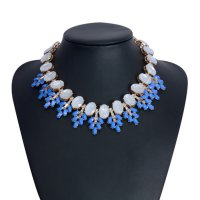 Kalung Fashion oval diamond collar