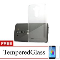 Case for LG K10 - Clear + Gratis Tempered Glass - Ultra Thin Soft Case