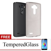 Case for LG K4 - Abu-abu + Gratis Tempered Glass - Ultra Thin Soft Case