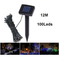 Solar Powered Garden Decoration Light 100 LED 12 Meter / Lampu Hias