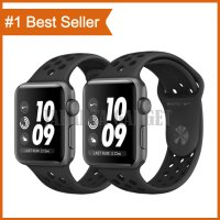 Apple Watch Series 3 Nike GPS 42mm Gray Aluminum Black Nike Sport Band - Garansi Resmi Apple