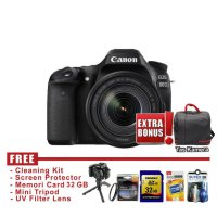 Canon Eos 80D Kit 18-135mm IS USM Hitam - FREE Accessories