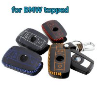 [globalbuy] leather key case for bmw 2 buttons car key case Genuine Leather keychain remot/3475215