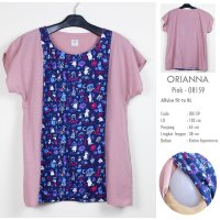 Just Mom Baju Menyusui Orianna Pink Cartoon OR159