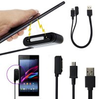 2in1 Magnetic Micro USB Charger Data Cable for Sony Xperia Z1 L39h Z2