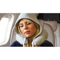 Bantal Leher Travel Hoody Pillow Super Comfort