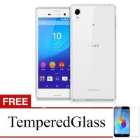 Case For Sony Xperia Z1 - Clear + Gratis Tempered Glass - Ultra Thin Soft Case