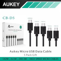 AUKEY - CB-D5 (5 PACK) 5 PCS MICRO USB FAST CHARGE AND DATA SYNC CABLE