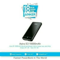 POWERBANK ANKER ASTRO E3 10000MAH FAST CHARGER QUICK CHARGE ORIGINAL