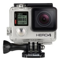 GoPro Hero 4 Black Edition - 12MP & FREE GoPro LCD Touch BacPac & GoPro BacPac Backdoor Kit