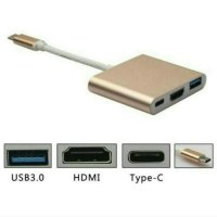 KABEL CONVERTER USB TYPE C KE HDMI MULTI PORT MURAH MACBOOK 12 13 2016