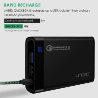POWERBANK UNEED QUICK CHARGE 3.0 8000 MAH FAST CHARGING 8000MAH MURAH