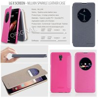 LG X Screen Nillkin Sparkle Leather Case Casing Cover Flip