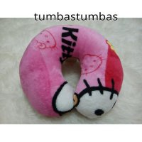 bantal leher bantal traveling hello kitty (bantal mobil, bantal leher, Bantal leher seri branded
