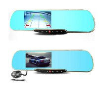 [globalbuy] 4.3 Car DVR Dual Camera Mirror Monitor 1080P Full HD Car Camera GPS Tracker WI/3213388