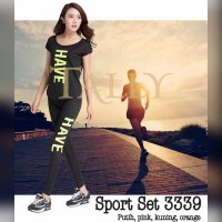 Baju sport set legging 3339 / yoga/gym/olahraga