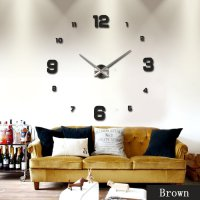 DIY Giant Wall Clock Number Square