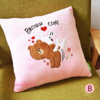 Bantal Boneka Line Friends Brown Cony Moon Sally Character Pillow 40cm
