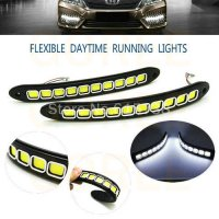 [globalbuy] 2pcs/lot DC12V flexible Silicone LED Strip Lights Switchback Light Headlights /3799424