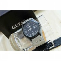 Jam Tangan Pria / Cowok Guess Set Leather Grey