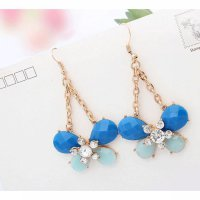 anting panjang fashion korea kupu dangling earrings butterfly jan118