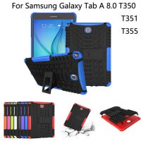 [globalbuy] Hybrid Stand Hard PC+TPU Rubber Armor Case Cover For Samsung GALAXY Tab A 8.0 /3707013