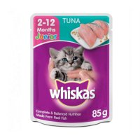Whiskas Sachet Makanan Kucing Basah Whisakas Junior Tuna 85 gram
