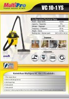 MULTIPRO 10-1 YS Low Watt Vaccum Cleaner